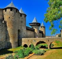 cité de carcassonne pont Levi, Medieval fortress Levi bridge