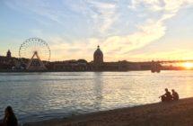 Lagrave à Toulouse, la garonne